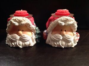 Santa Head Candle Holders with Candles St. John's Newfoundland image 1