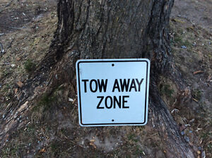 Tow Away Zone Road Sign