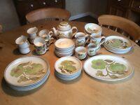 DENBY TROUBADOUR 38 piece DINNER/TEA SERVICE