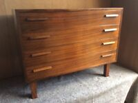 1960's mid century Rosewood chest of drawers