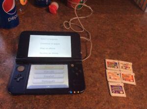 New nintendo 3DS XL avec jeux, chargeur et amibo