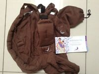 Brown BabaSling, baby carrier