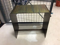 Steel Side Table/Bench