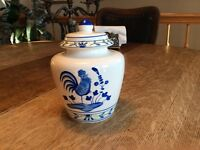 Pot en ceramique coq mettre articles de   cuisine ou ch.bain