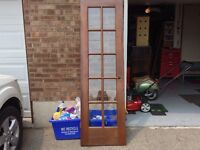 VERY NICE FRENCH wood DOOR WITH GLASS
