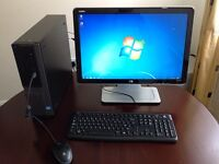 """Dell i5 3.2Ghz desktop PC/22"""" HP Monitor/Keyboard/Mouse"""