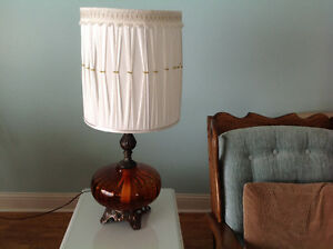 Two coffee table lamps