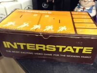 Vintage interstate video game boxed. £40