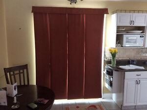 Patio door panel drape/blind