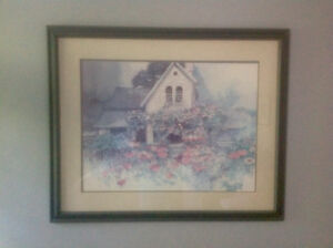 Framed lithograph by Dalina Darton