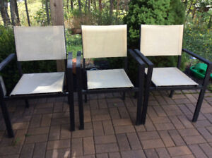 Outdoor Stackable Chairs, Table.