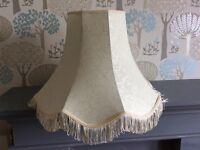 Large vintage / retro shabby chic standard lamp shade