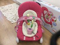 Chicco hoopla pink baby bouncer