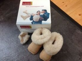 Boxed Just Sheepskin Baby Boots 0-6 months