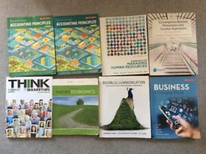 Business Accounting/Business college program. Year 1 textbooks