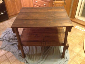 Handcrafted Kitchen Island/Shelf/Table Reclaimed Wood