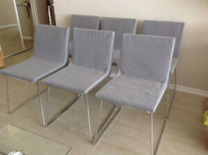 6 Brand New Grey Dining or Office Chairs for Sale