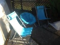 SET OF THREE CAMPING CHAIRS