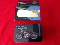 Harley Davidson Limited Edition Tin and Historial Playing Cards