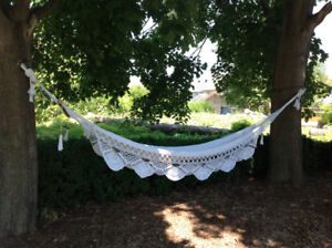 Resort Style White Lace Hammock
