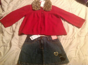 Gymboree NEW with tags sweater and skirt size 3T
