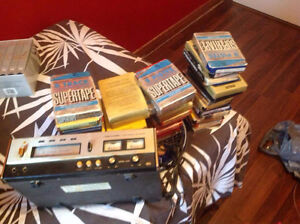 8 Track Player with cassettes - Country and Western