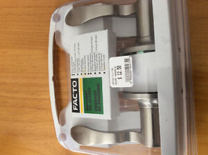 Satin Nickel Door Handle Set-Brand New Unopened