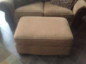 Loveseat and ottoman