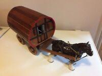 Vintage wooden Caravan plus Horse
