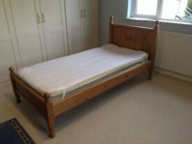 LPC (Lancashire Pine) Single Wooden Bedframe (Very Good Condition) £50