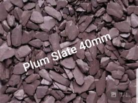 Decorative gravel aggregates cheap Plum slate 40mm