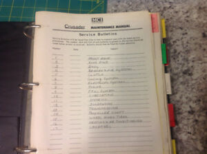 MCI. MC 8 Crusader Maintenance Manual