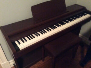 Digital piano with stool