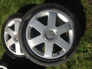 Audi TT rims with all season tires For Sale London Ontario image 2