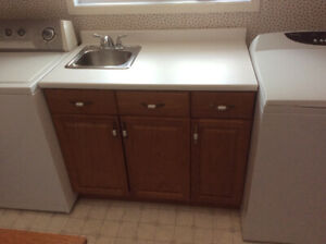 Washer, Dryer, Countertop, Sink, Cabinets - Complete Laundry RM