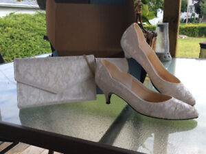 Wedding Shoes with Matching Clutch Purse