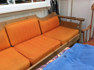 Country couch with upholstery