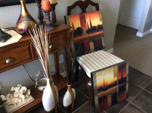 Great condition - Oversize Chair, Lamp, Candle Holder, print, Va
