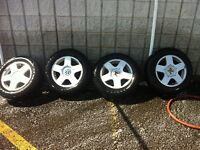 5x100 vw Avus wheels and conti tires