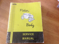 fisher body manuals for sale