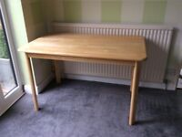 Solid wood dining table (no chairs)