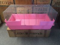Little Friends Rabbit / Guinea Pig Cage 100cm x 54cm x 44cm Pink New in Retail Box