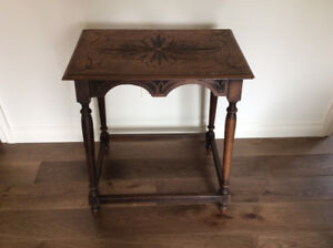 Beautifully Carved Antique Oak Side Table