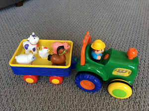 Tractor with farm animals