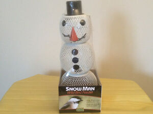 Large snowman bird feeder. Never opened