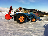 Fordson Major 2000 and snow blower