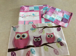 Girls comforter/quilt and rug