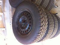 4 Winter tires and rims P205/65R15
