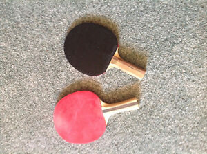 Good Quality...table tennis racquets.thick sponge black and red
