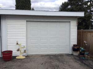 Complete garage door, ready to install.